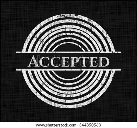 Accepted on blackboard - stock vector