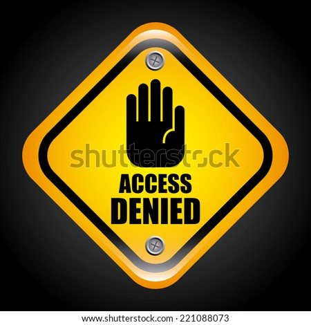 access denied graphic design , vector illustration - stock vector