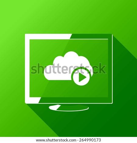 Access Video Cloud Computing Illustration - stock vector
