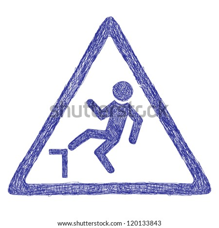 Accident road sign - stock vector