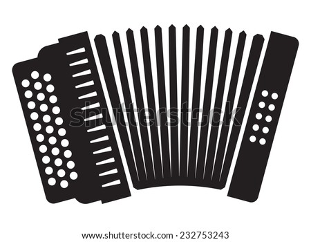 Accordion icon - stock vector