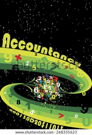Accountancy space - stock vector