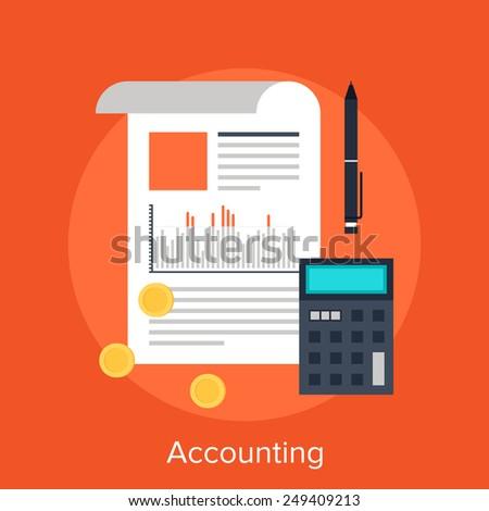 Accounting - stock vector
