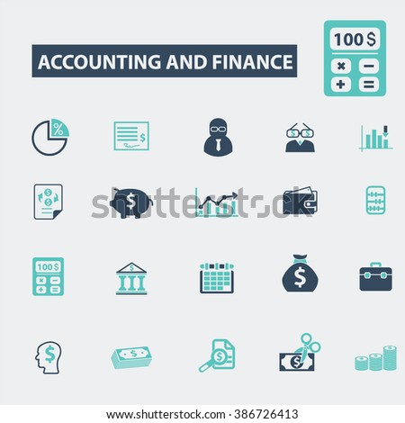 accounting and finance icons  - stock vector