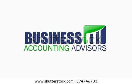 Accounting Bookkeeping Logo - stock vector