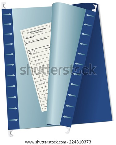 Accounting waybill archive file in the office.. Vector illustration. - stock vector