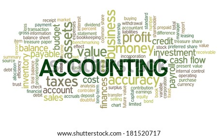 Accounting Word Cloud Green Bubble tags vector - stock vector