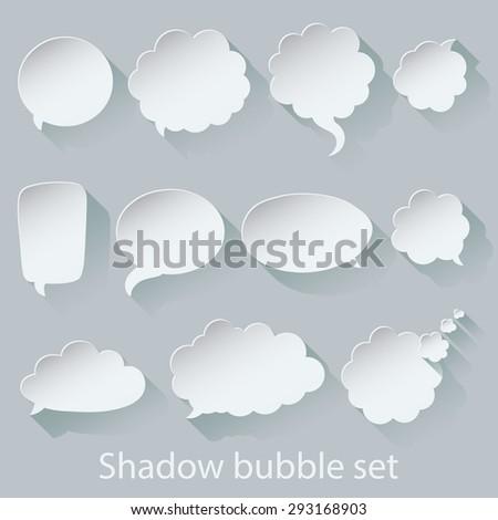 Accurately made shadow bubble set. Enjoy! - stock vector
