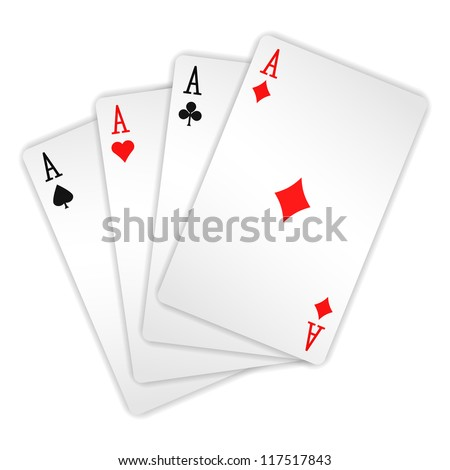 Ace - Vector illustration of cards - stock vector