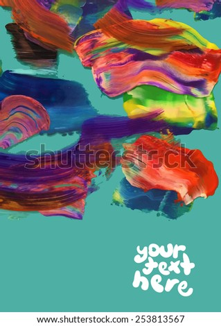 Acrylic Brush Strokes - stock vector