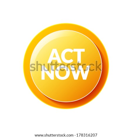 Act Now  icon - stock vector