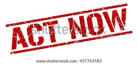 act now stamp.stamp.sign.act.now. - stock vector