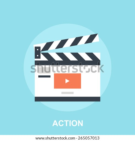 Action - stock vector