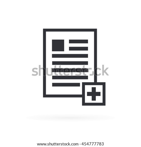 Add Document File Icon - stock vector