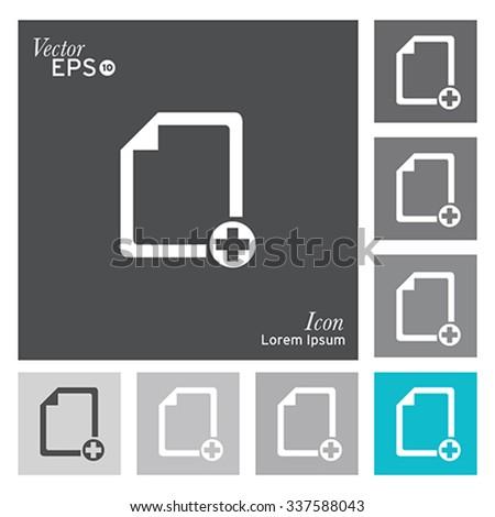 Add document icon - vector, illustration. - stock vector