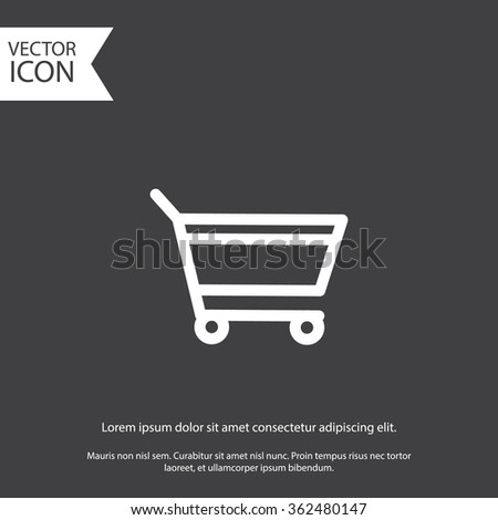 add to cart. gray icon. eps 10. - stock vector