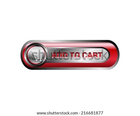 Add to cart icon, button vector - stock vector