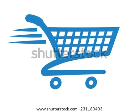 Add to cart icon for shopping websites - stock vector