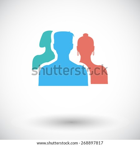 Add to friends. Single flat icon on white background. Vector illustration. - stock vector