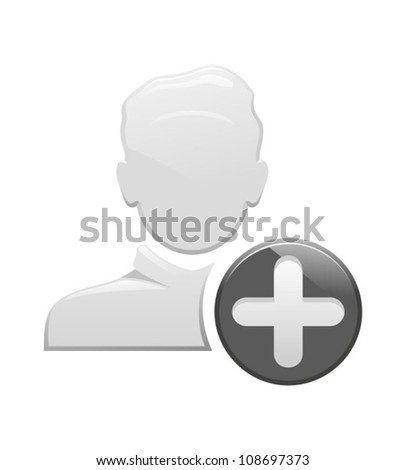 add user icon - stock vector