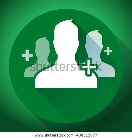Adding referrals. Teamwork and association of people icon. Flat design style - stock vector