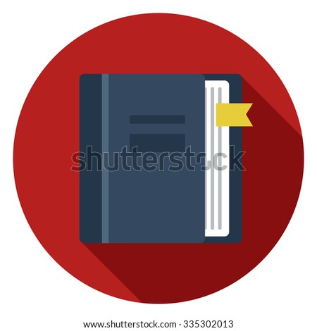 address bookmark icon - stock vector