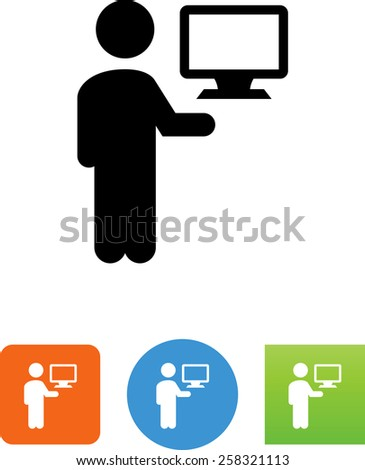 Admin symbol for download. Vector icons for video, mobile apps, Web sites and print projects. - stock vector