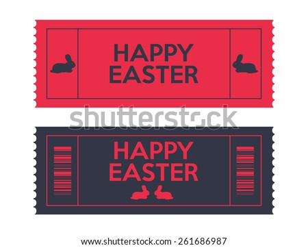admit one Easter tickets - stock vector