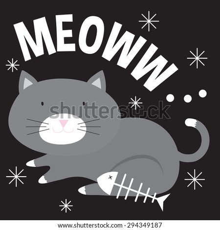Adorable Cat - stock vector