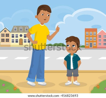 Adult and Child Vector Illustration - stock vector