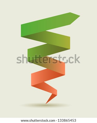 Advance arrow banner.  Promotional infographics vector design. - stock vector