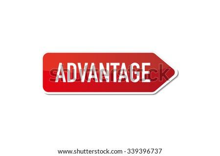 Advantage signboard - stock vector