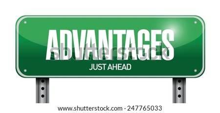 advantages road sign illustration design over a white background - stock vector