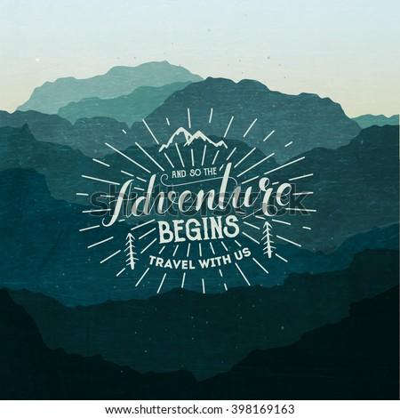 Adventure illustration - stock vector