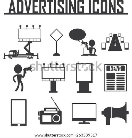 Advertisement icons. vector illustraton eps 10 - stock vector