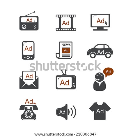 Advertisement vector icons - stock vector