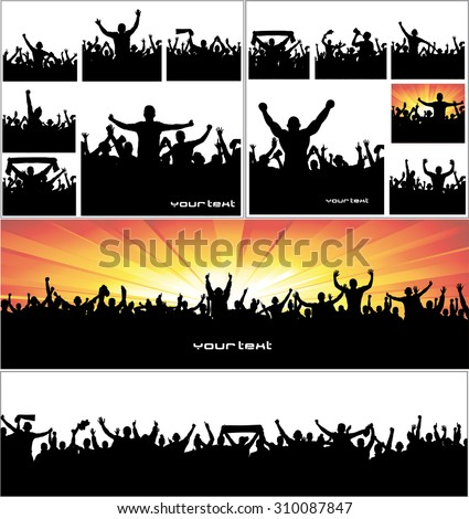 Advertising banners for sports championships and concerts. - stock vector