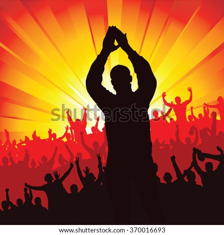 Advertising poster for sports championships and music concerts - stock vector