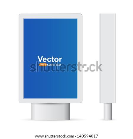 Advertising street standbuklet3 - stock vector