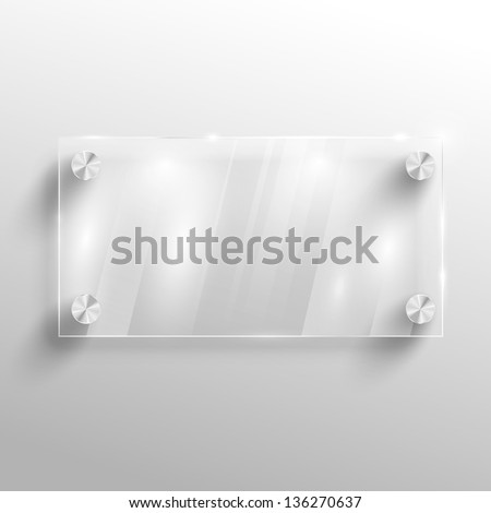 Advertising vector glass board. - stock vector