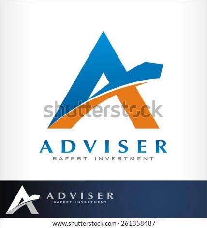 advice logo vector - stock vector