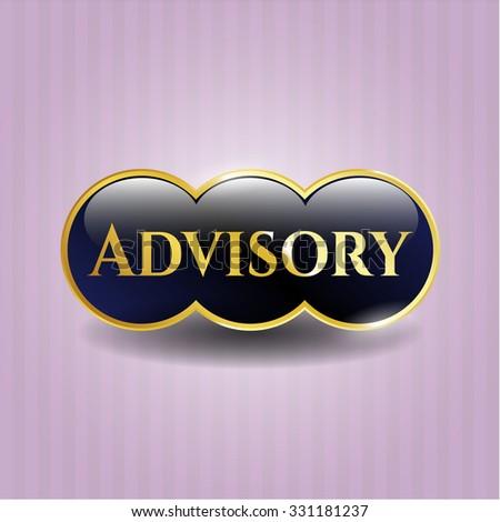 Advisory gold emblem or badge - stock vector