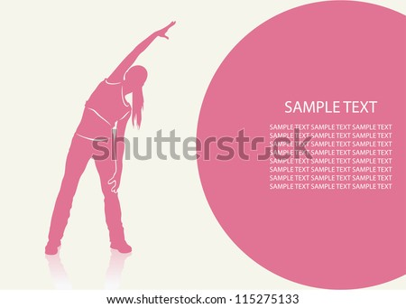 Aerobics background - vector illustration - stock vector