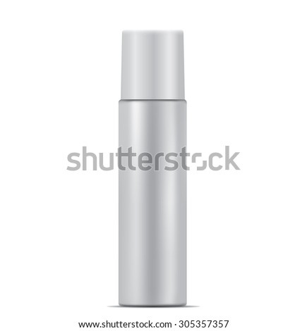 Aerosol spray metal bottle can - stock vector