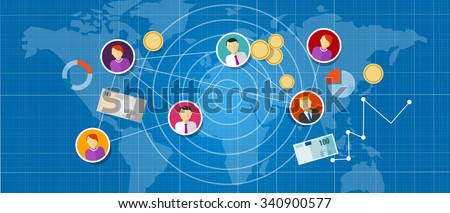 affiliate marketing multi level mlm network sales connected people - stock vector