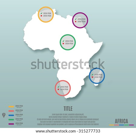 africa continent template for infographics vector illustration - stock vector