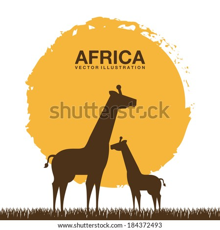 Africa design over white background, vector illustration - stock vector