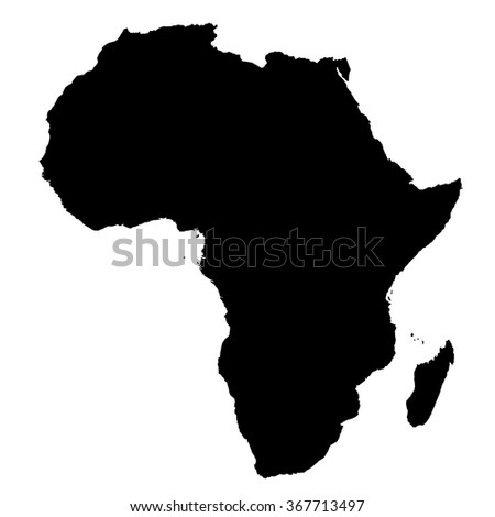 Africa map on white background vector - stock vector