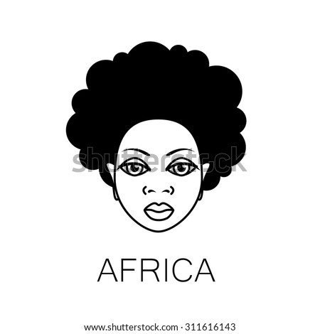 Afro Hair Vector Afro Hair Stock...