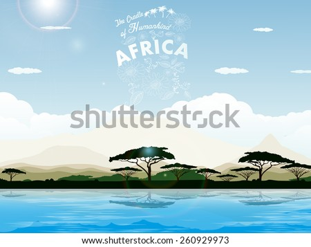 Africa - The Cradle of Humankind - stock vector